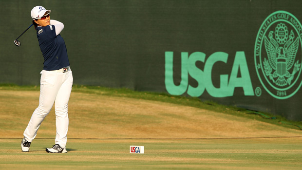 Se Ri Pak during the first round of the U.S. Women's Open