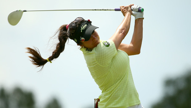 Gerina Piller during the second round of the U.S. Women's Open
