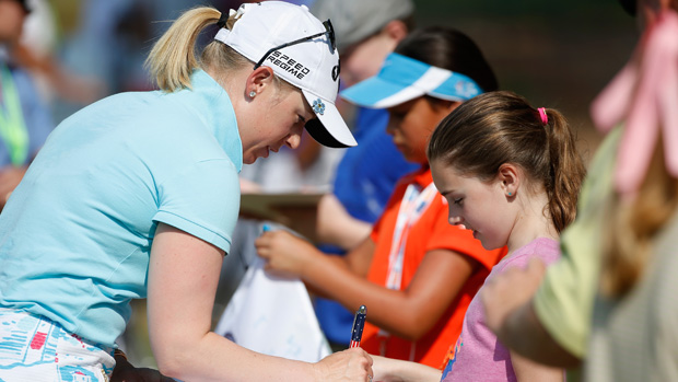 Morgan Pressel during a practice round prior to the start of the U.S. Women's Open