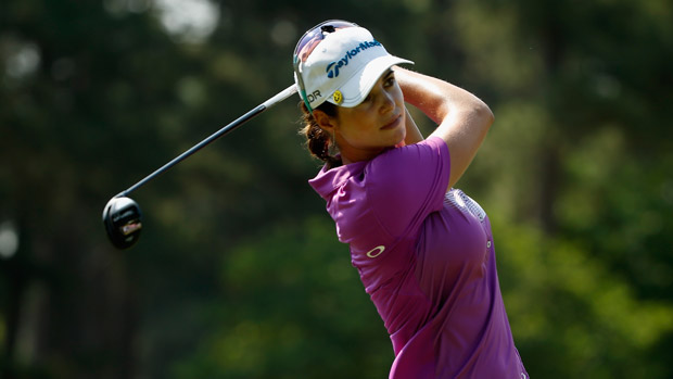 Beatriz Recari during a practice round at the U.S. Women's Open conducted by the USGA