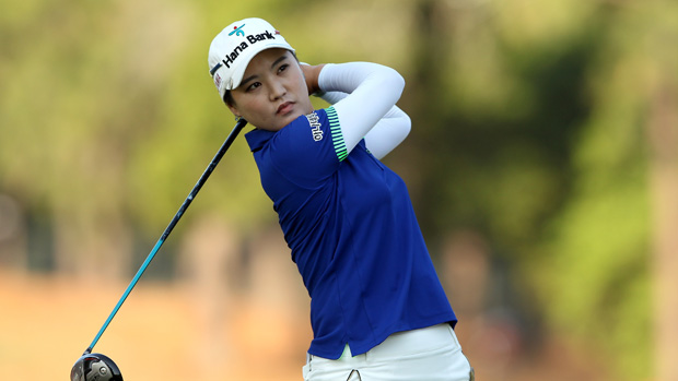 So Yeon Ryu during the first round of the U.S. Women's Open