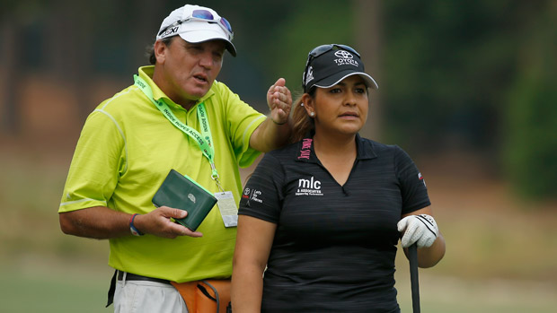 Lizette Salas during a practice round at the U.S. Women's Open conducted by the USGA