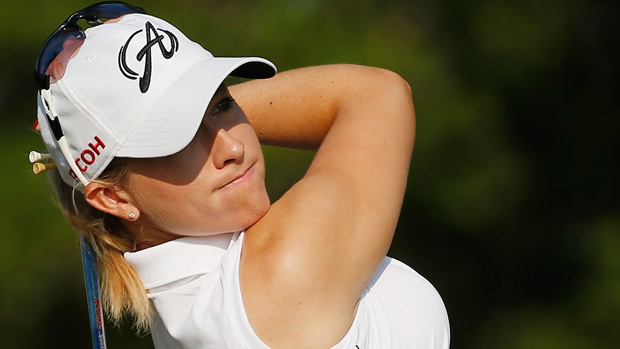 Jodi Ewart-Shadoff during a practice round prior to the start of the U.S. Women's Open