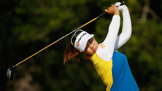 Jenny Shin during a practice round prior to the start of the U.S. Women's Open