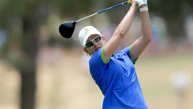 Karrie Webb during the final round of the U.S. Women's Open