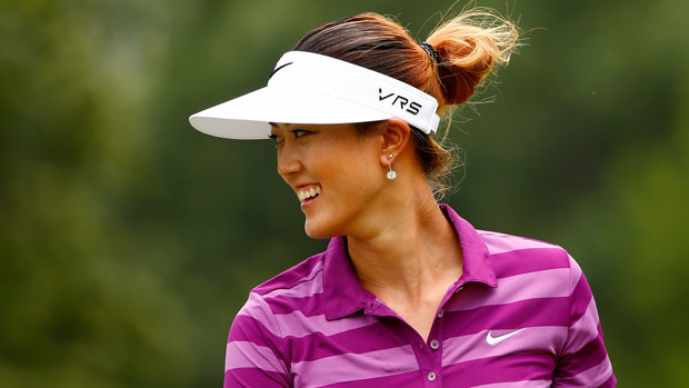 Michelle Wie during the second round of the Walmart NW Arkansas Championship Presented by P&G