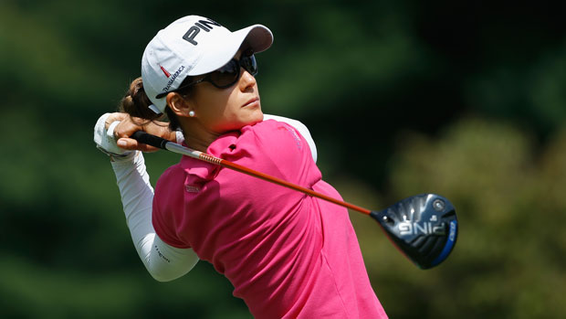 Azahara Munoz during the final round of the 2014 Wegmans LPGA Championship