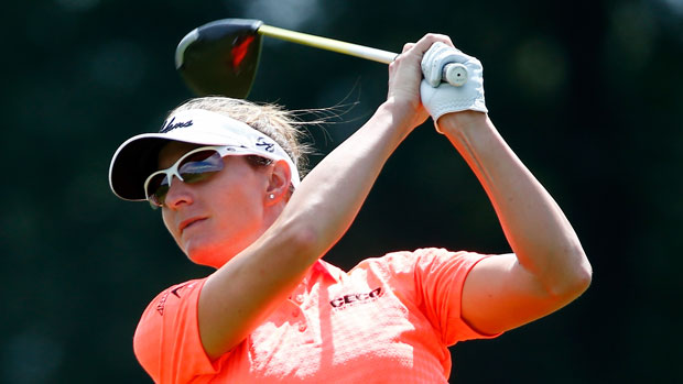 Brittany Lang during the third round of the 2014 Yokohama Tire LPGA Classic