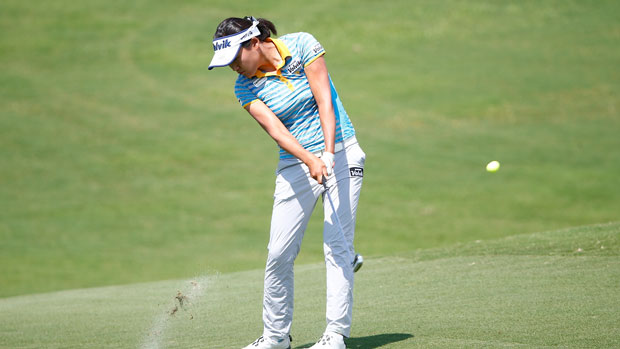 Ilhee Lee during the first round of the 2014 Yokohama Tire LPGA Classic