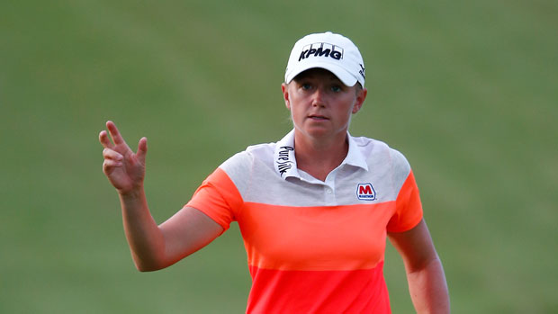 Stacy Lewis during the first round of the 2014 Yokohama Tire LPGA Classic