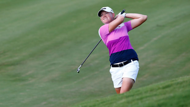 Stacy Lewis during the final round of the 2014 Yokohama Tire LPGA Classic