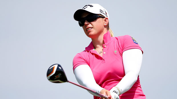 Morgan Pressel during the first round of the 2014 Yokohama Tire LPGA Classic