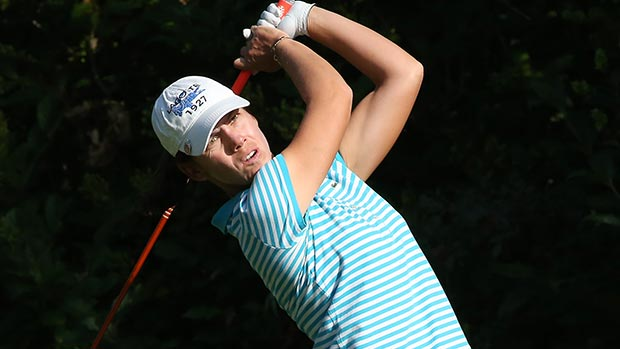 Karine Icher during the second round of the 2013 CN Canadian Women's Open