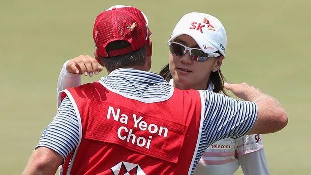 Na Yeon Choi during the second round of the HSBC Women's Champions 2013