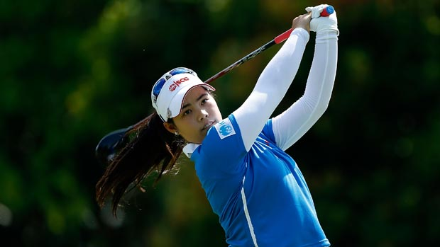 Moriya Jutanugarn during the second round of the HSBC Women's Champions 2013