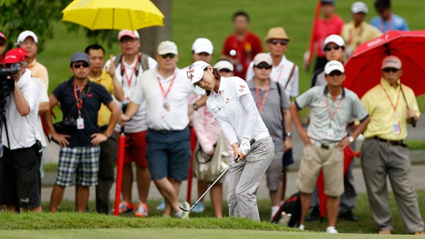 Na Yeon Choi during the third round of the HSBC Women's Champions 2013