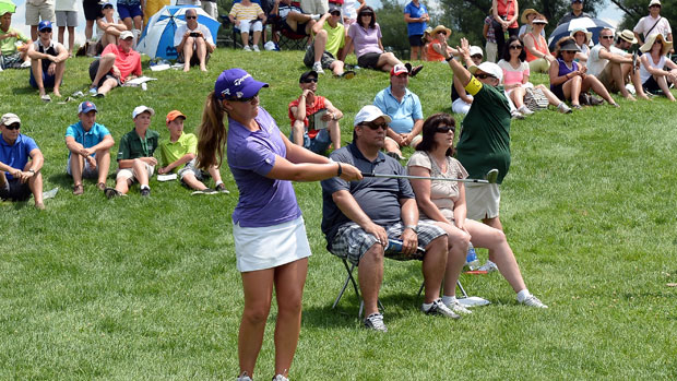 Austin Ernst during the final round of the Manulife Financial LPGA Classic