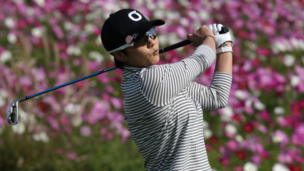Mi Hyun Kim during the first round of KEB-HanaBank Championship