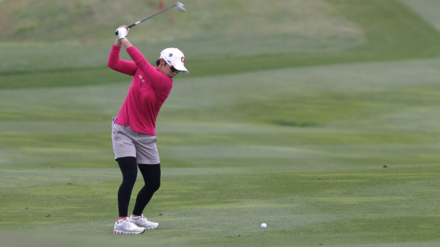 Mi Hyun Kim during the second round of KEB-HanaBank Championship