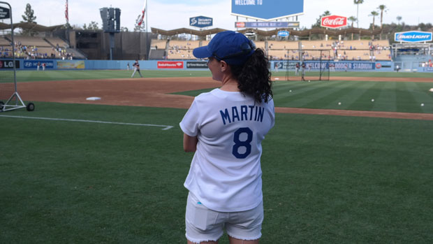 Martin throw out the ceremonial first pitch