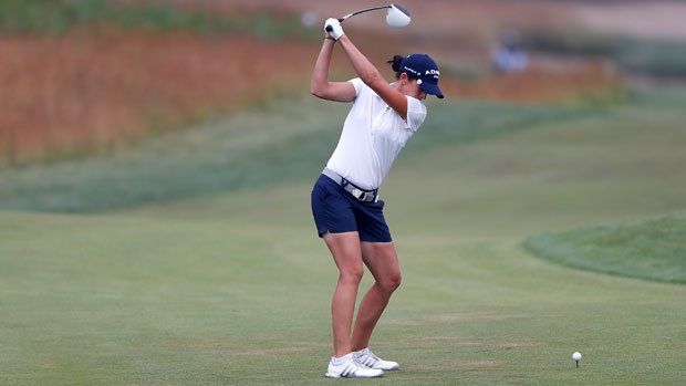 Nicole Castrale during the U.S. Women's Open
