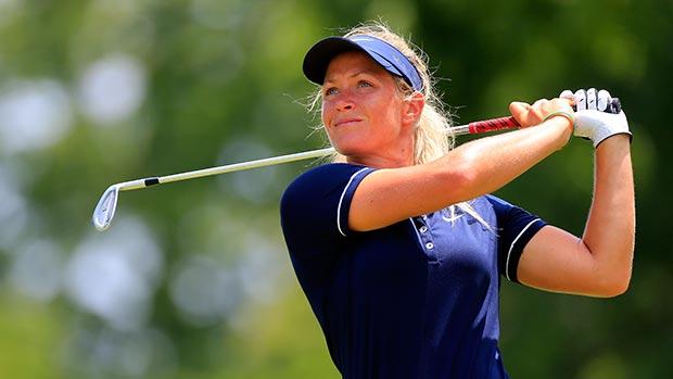 Suzann Pettersen during the final round of the Walmart NW Arkansas Championship Presented by P&G