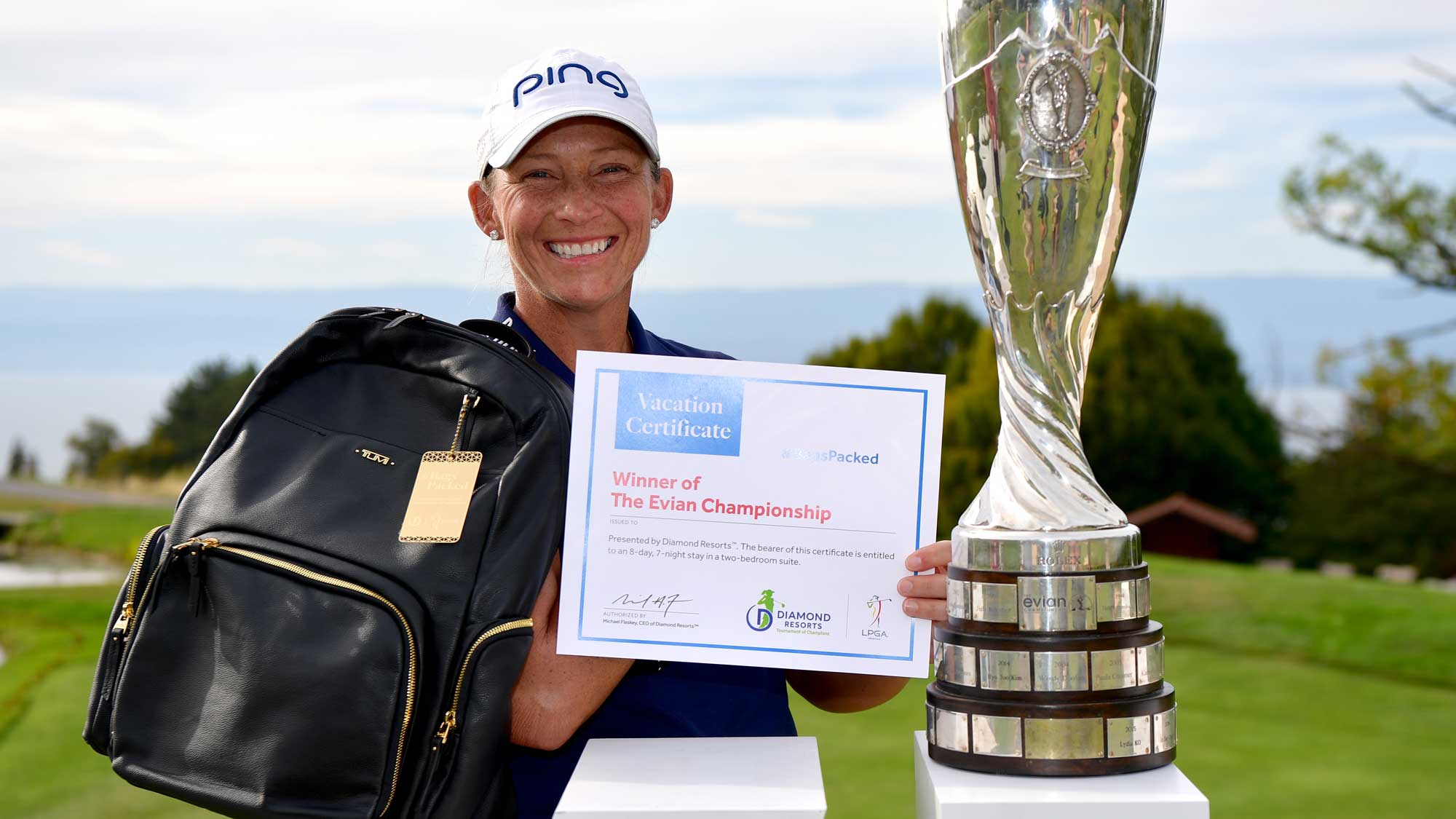 Angela Stanford has her #BagsPacked for the 2019 Diamond Resorts Tournament of Champions after her first career major victory at the 2018 Evian Championship