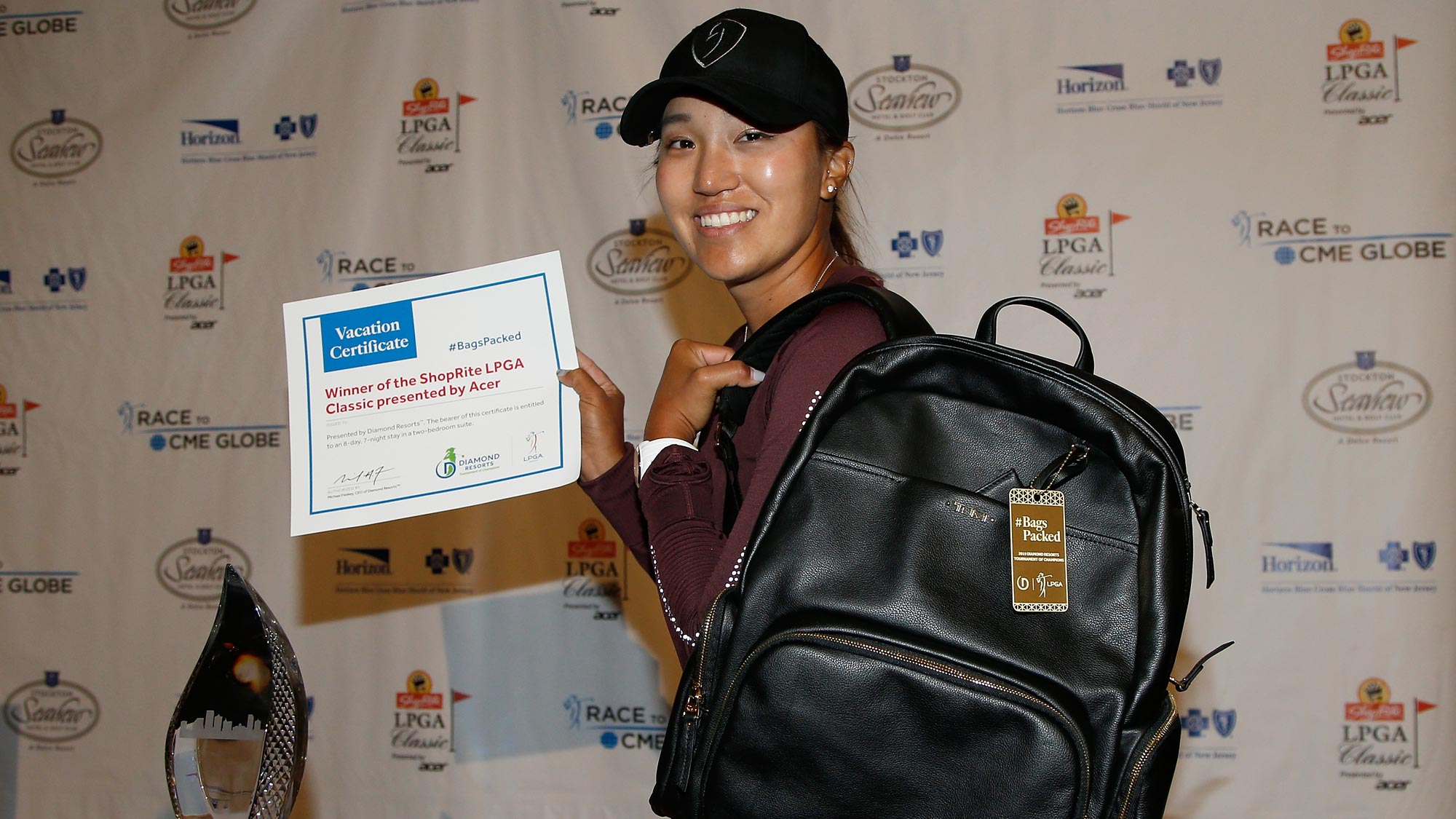Annie Park has her #BagsPacked for the 2019 Diamond Resorts Tournament of Champions after her first career win at the ShopRite LPGA Classic presented by Acer