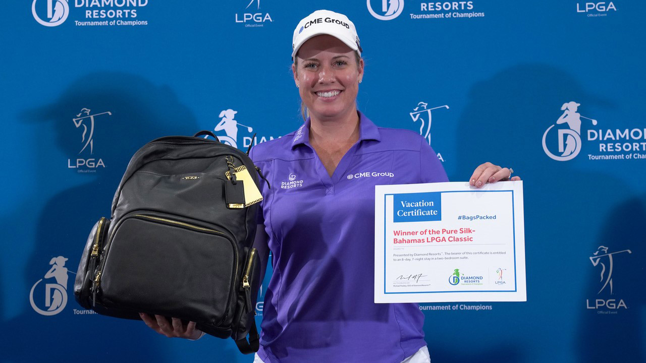 Brittany Lincicome has her #BagsPacked for the 2019 Diamond Resorts Tournament of Champions after her win at the Pure Silk-Bahamas LPGA Classic