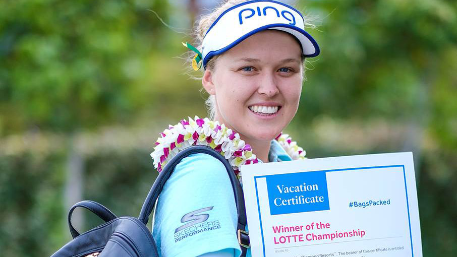 Brooke Henderson has her #BagsPacked for the 2019 Diamond Resorts Tournament of Champions after her win at the LOTTE Championship Presented By Hershey