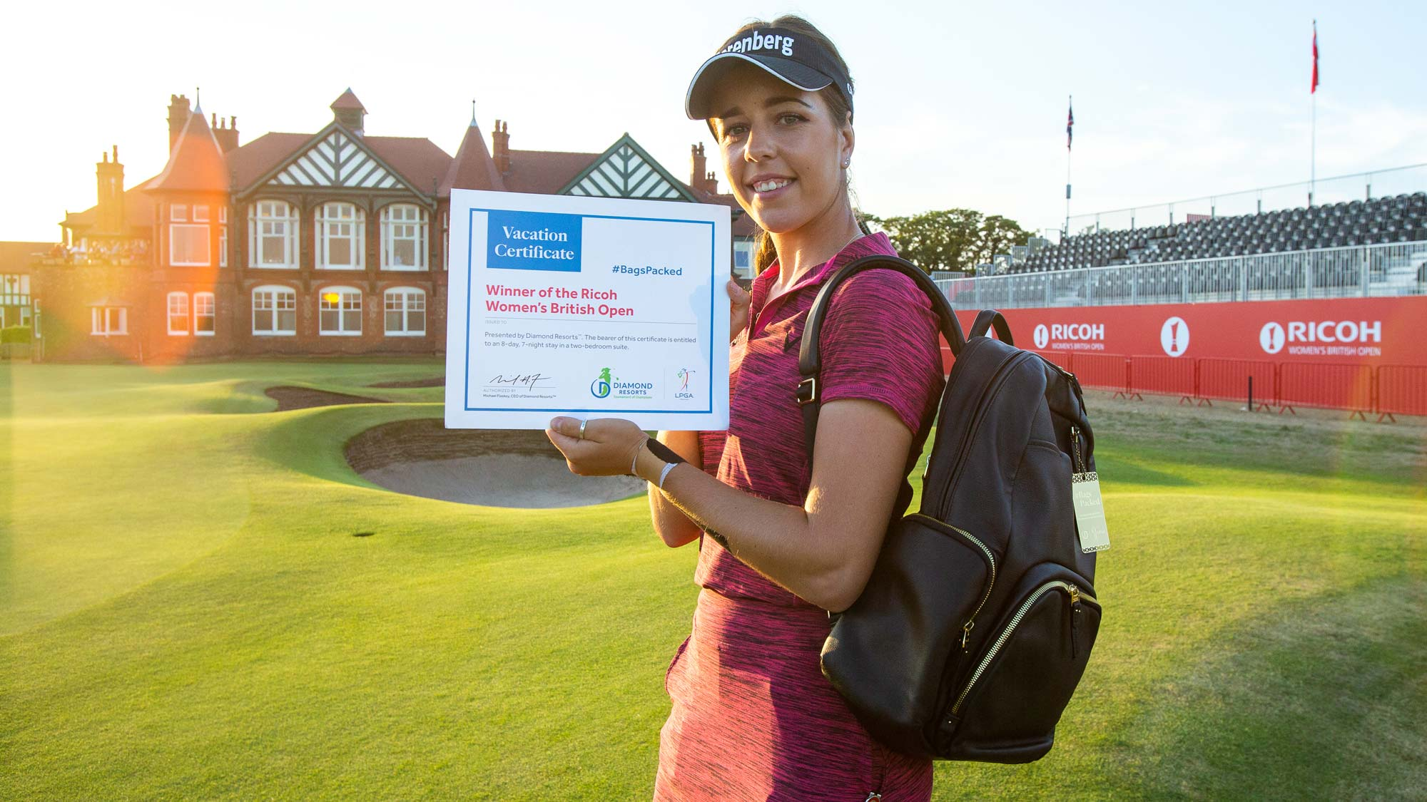 Georgia Hall has her #BagsPacked for the 2019 Diamond Resorts Tournament of Champions after her first career LPGA victory at the 2018 Ricoh Women's British Open