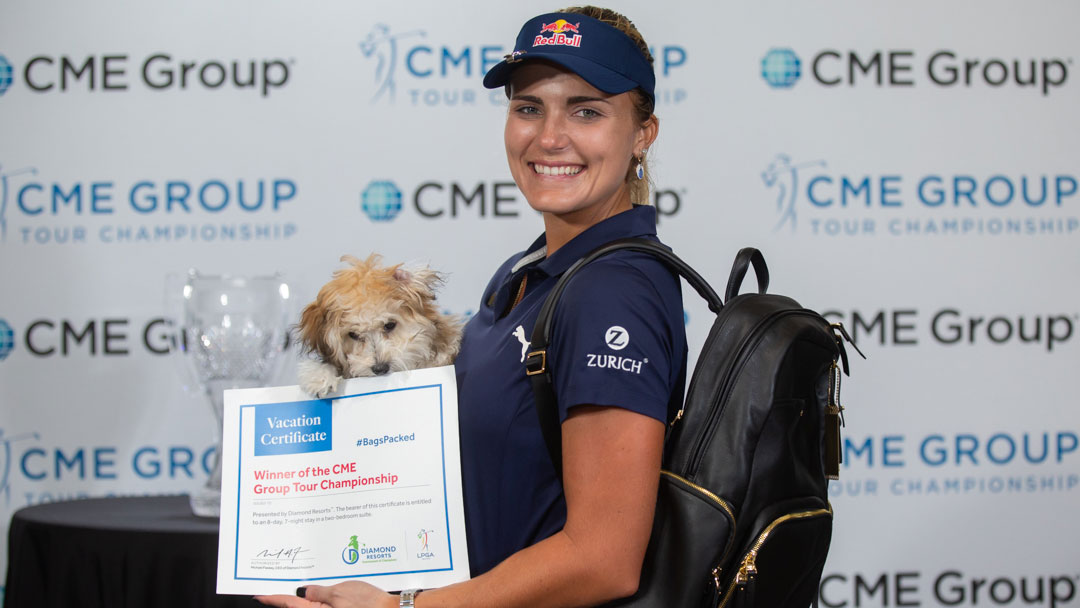 Lexi Thompson has her #BagsPacked for the 2019 Diamond Resorts Tournament of Champions after her victory at the 2018 CME Group Tour Championship