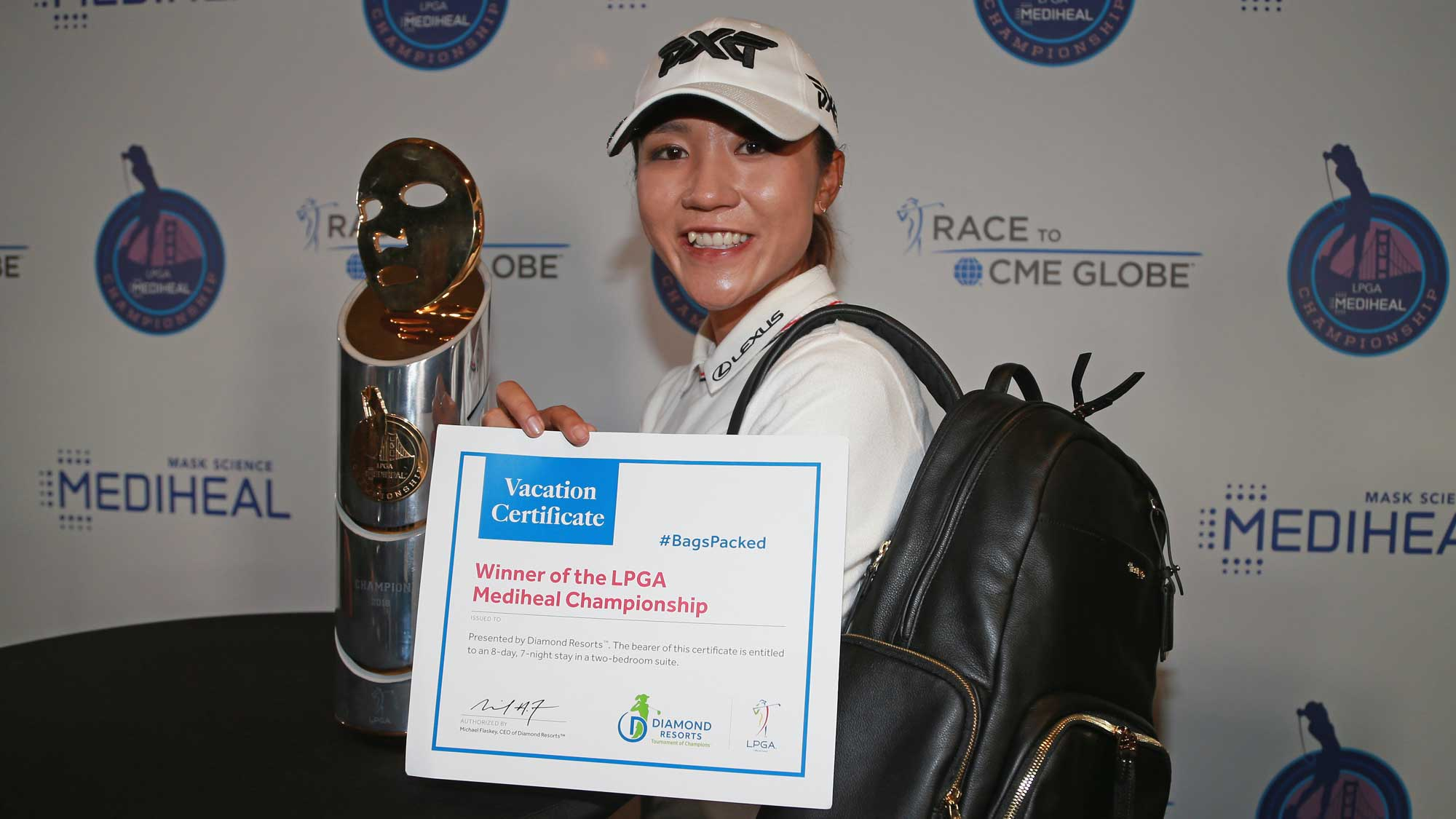 Lydia Ko has her #BagsPacked for the 2019 Diamond Resorts Tournament of Champions after her win at the LPGA MEDIHEAL Championship