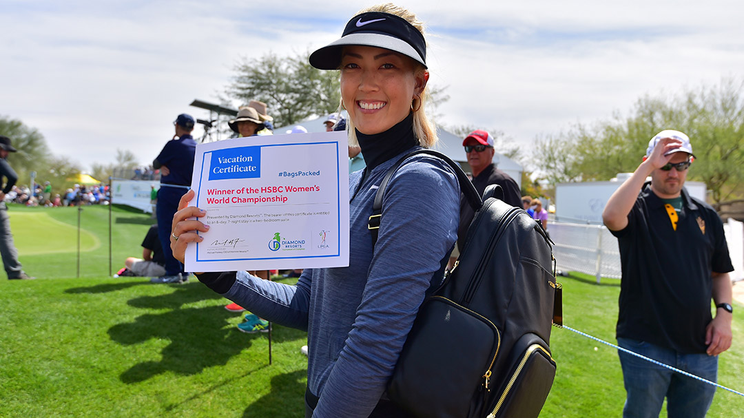 Michelle Wie has her #BagsPacked for the 2019 Diamond Resorts Tournament of Champions after her victory at the HSBC Women's World Championship