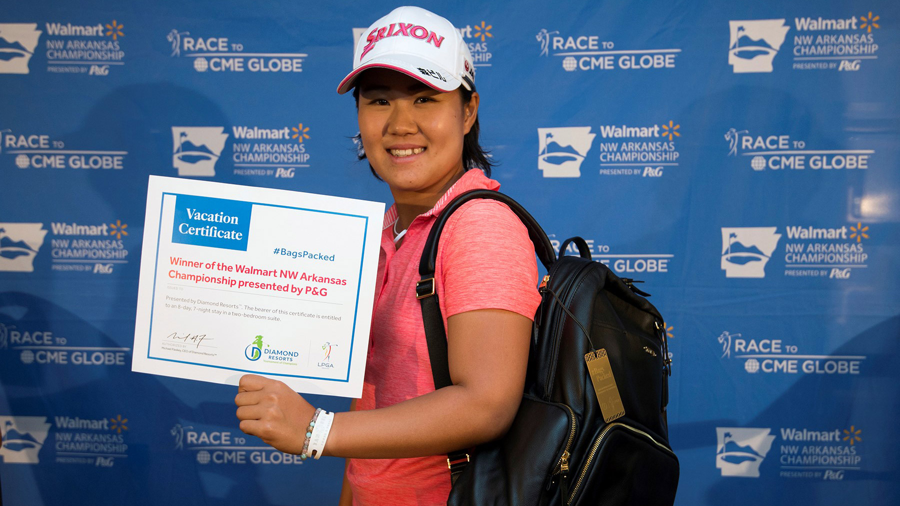 Nasa Hataoka has her #BagsPacked for the 2018 Diamond Resorts Tournament of Champions after her victory at the 2018 Walmart NW Arkansas Championship presented by P&G