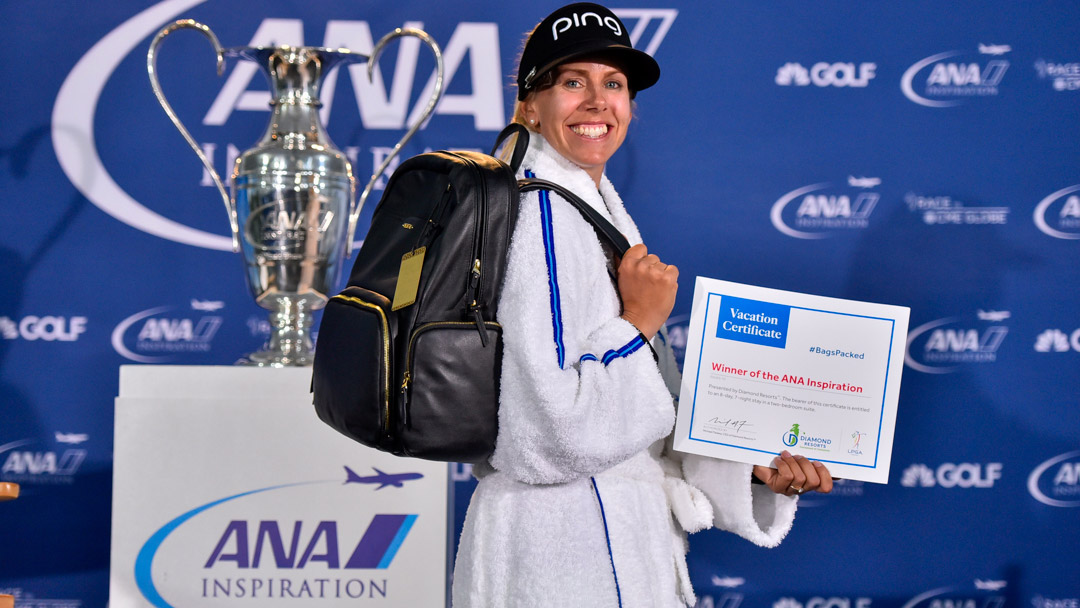 Pernilla Lindberg has her #BagsPacked for the 2019 Diamond Resorts Tournament of Champions after her win at the 2018 ANA Inspiration
