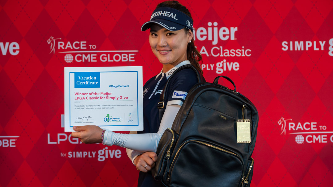 So Yeon Ryu has her #BagsPacked for the 2018 Diamond Resorts Tournament of Champions after her victory at the 2018 Meijer LPGA Classic For Simply Give