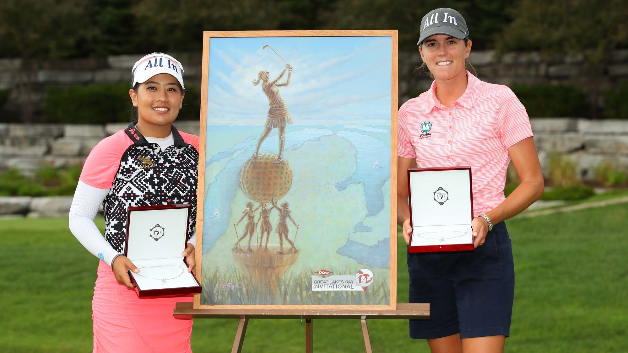 Jasmine Suwannapura and Cydney Clanton have their #BagsPacked for the 2020 Diamond Resorts Tournament of Champions after their win at the Dow Great Lakes Bay invitational