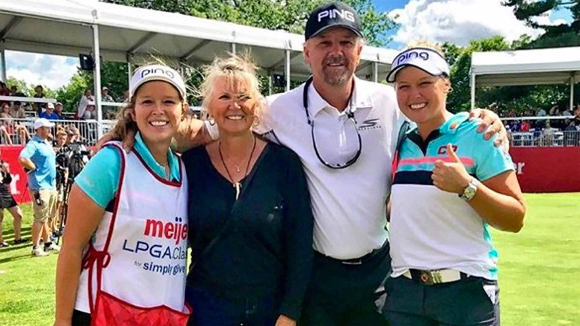 Brooke Henderson and Family After Her Victory at Meijer LPGA Classic for Simply Give