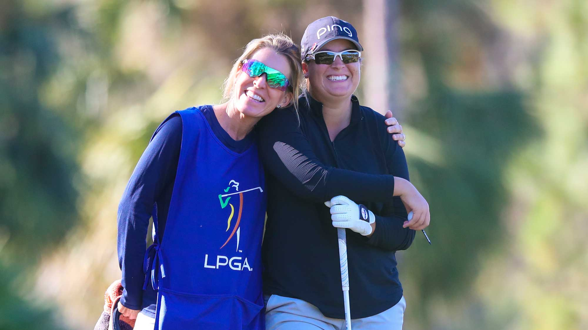 Lauren Coughlin and Caddie Kim Lewellen during final stage of the 2017 Qualifying Tournament