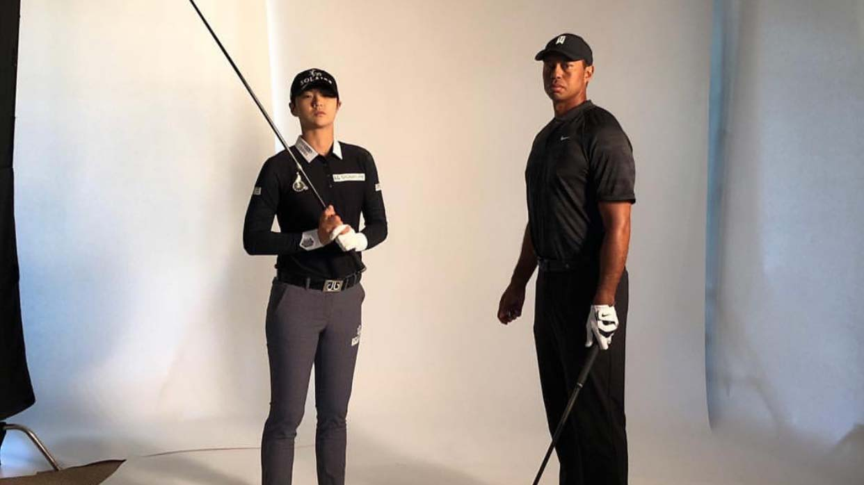 2019 sung hyun park solaire sponsorship tiger woods