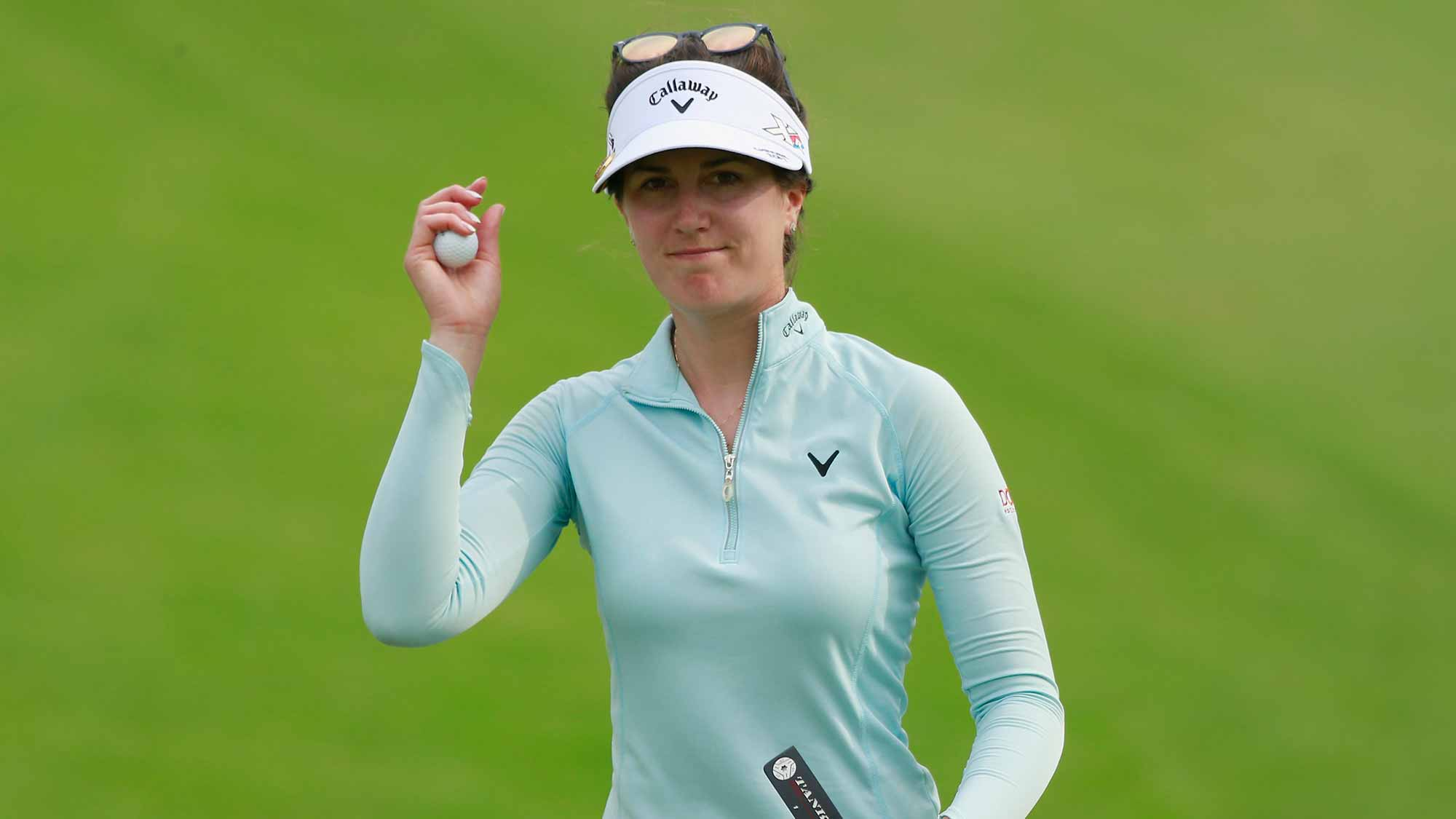 Sandra Gal of Germany reacts at the 18th hole during Round 2 of Blue Bay LPGA