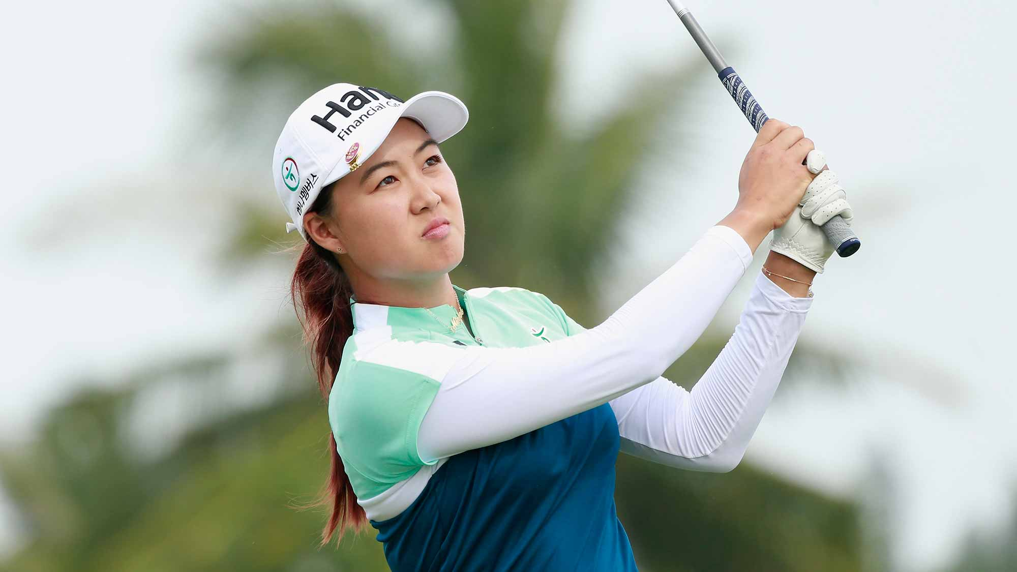 Minjee Lee of Australia during Round 2 of Blue Bay LPGA