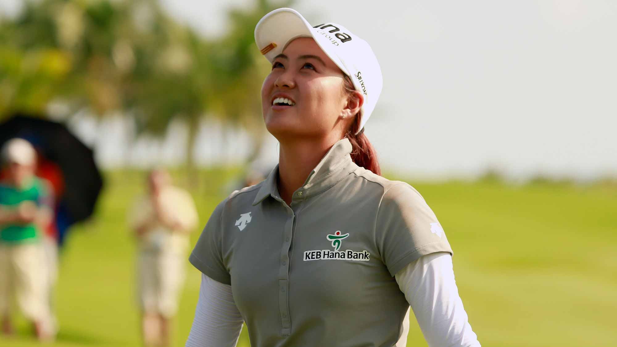 Minjee Lee of Australia after winning the final round of the Blue Bay LPGA on Day 4
