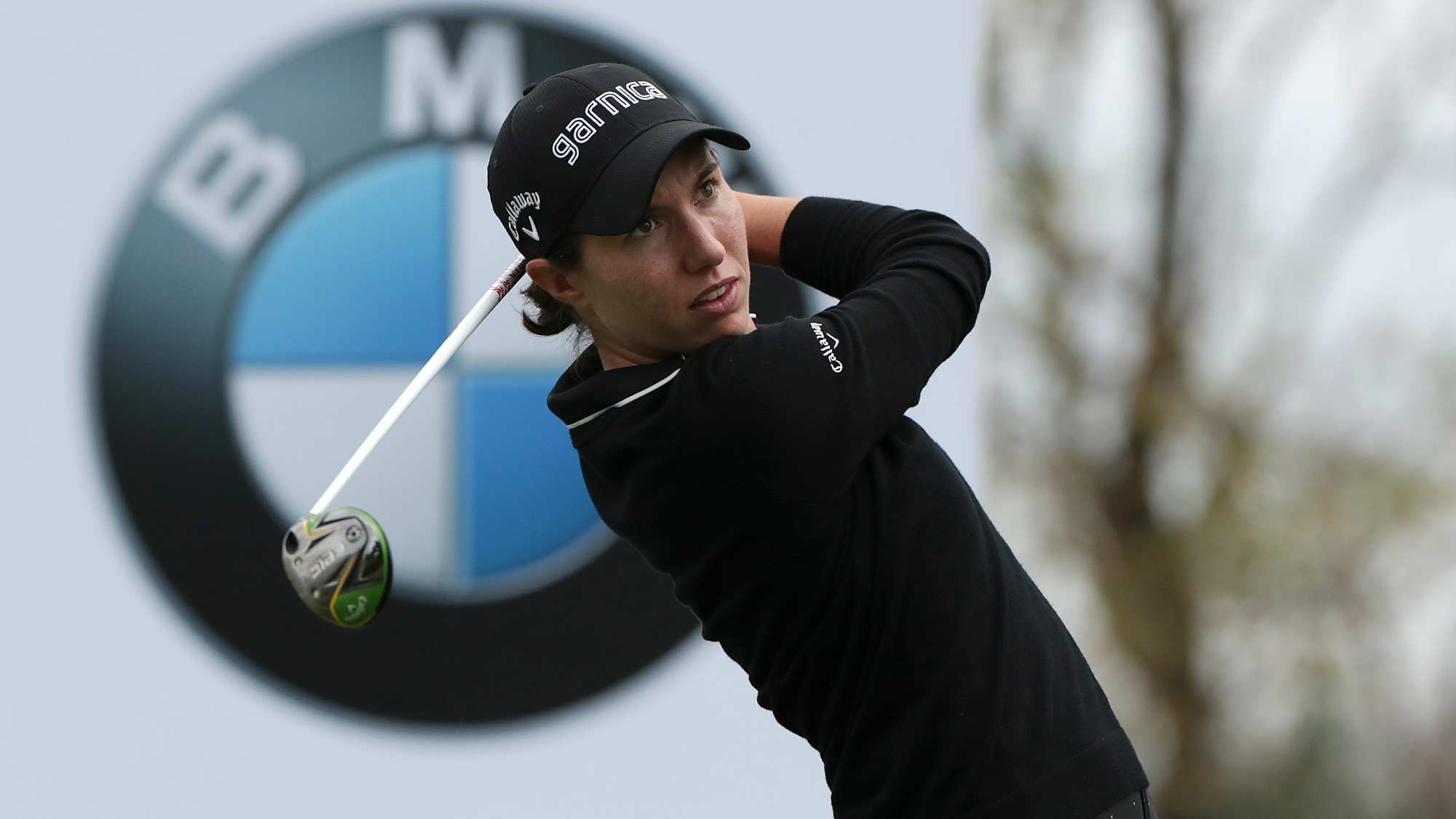 Carlota Ciganda tees off at the 2nd round of the BMW