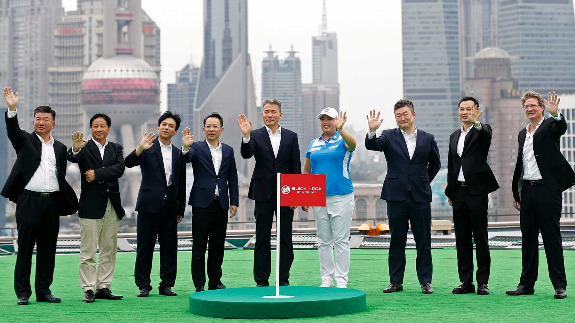 Shanshan Feng, the first Chinese player, male or female, to win a Major and be ranked No.1 in the world, attended the announcement today alongside the VIP attendees.