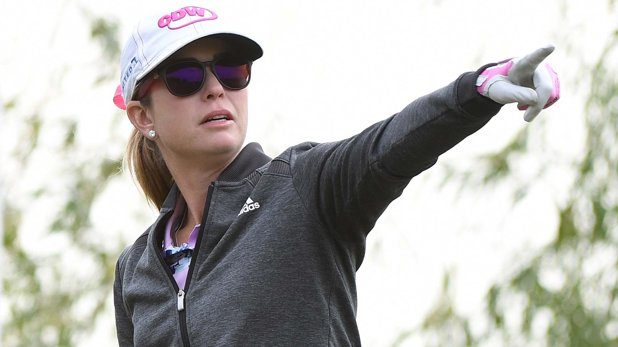 Paula Creamer of the United States plays a shot during the first round of the Buick LPGA Shanghai