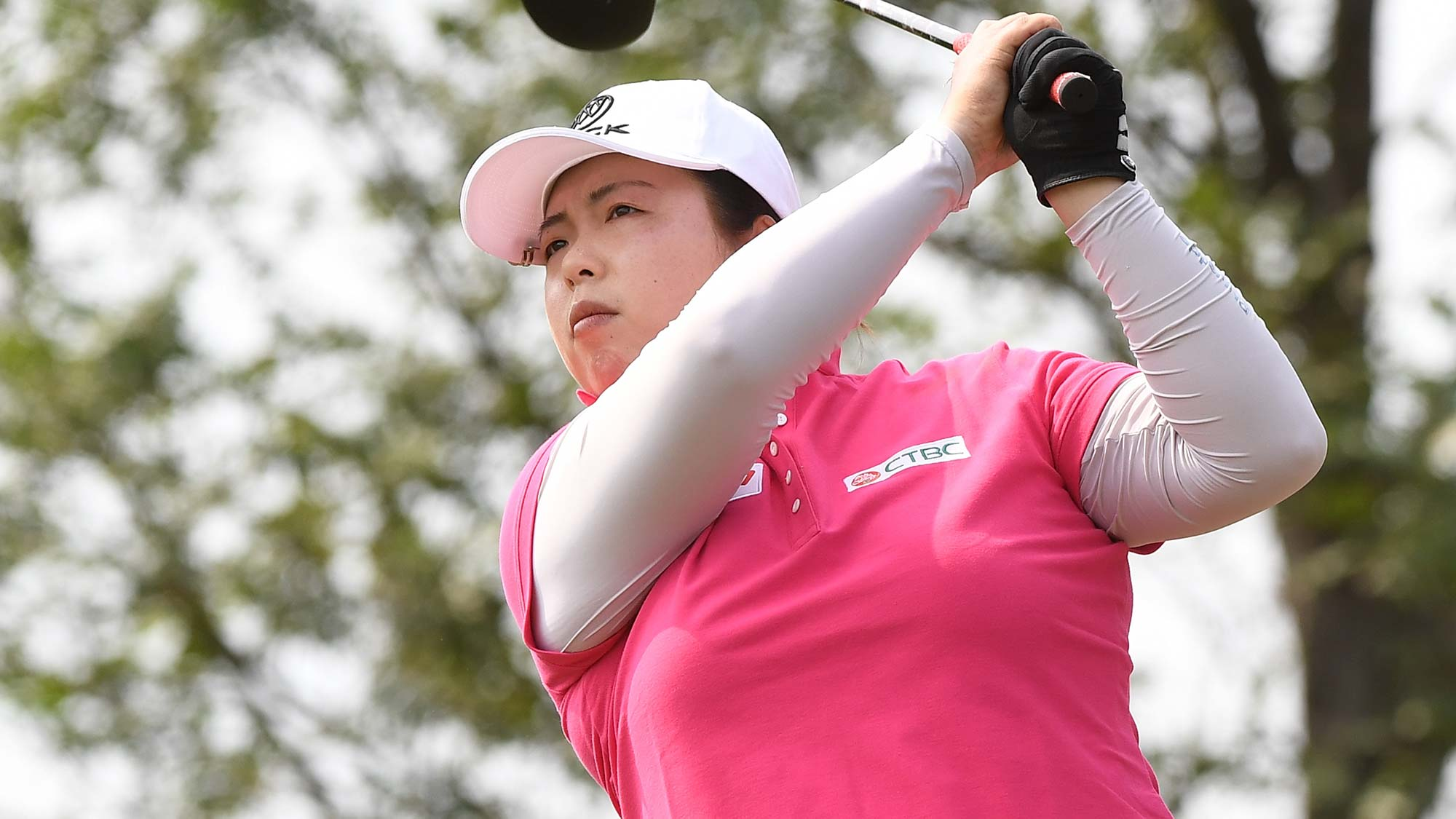 Shanshan Feng of China plays a shot during the first round of the Buick LPGA Shanghai