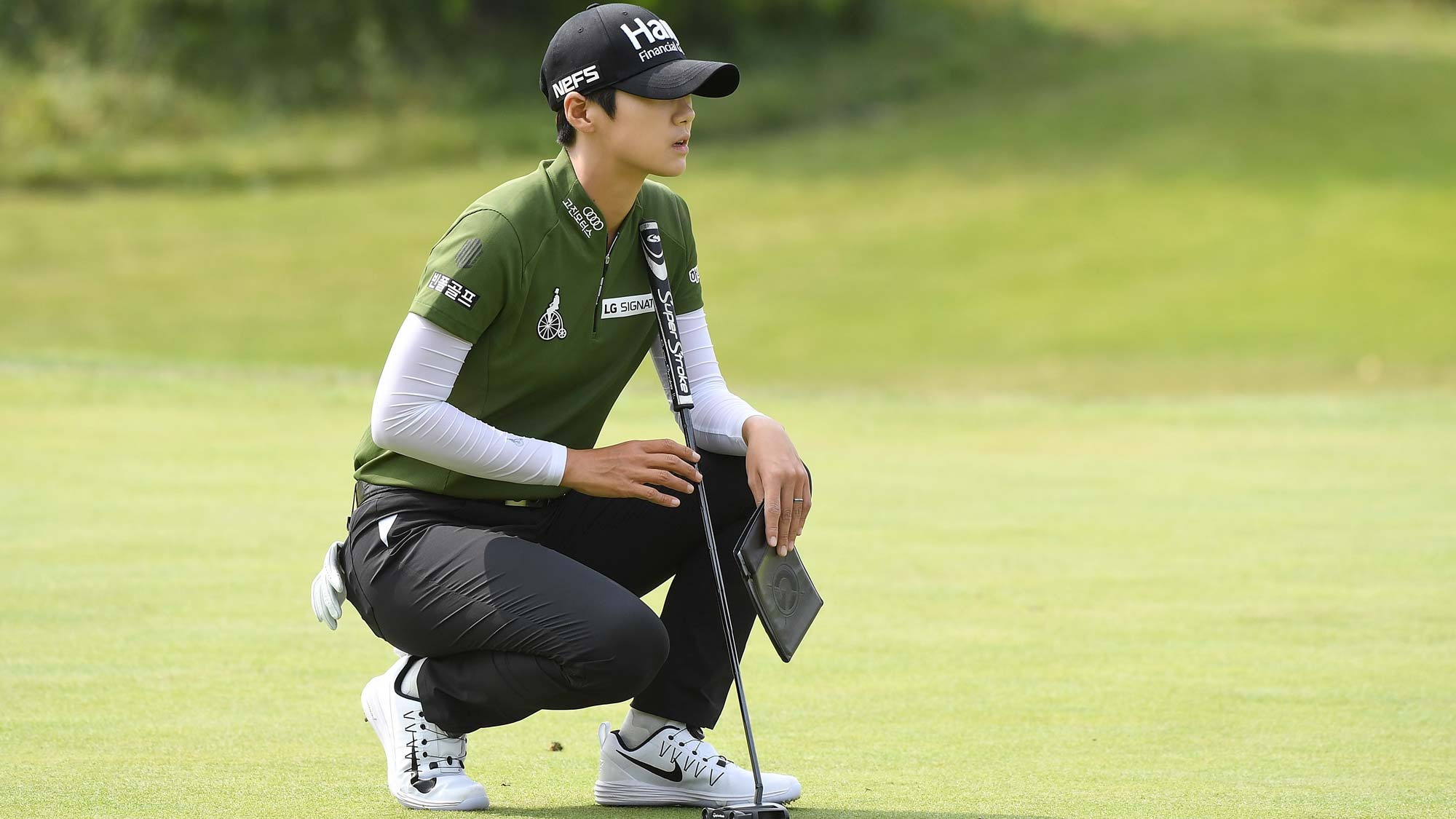 Sung Hyun Park of Korea plays a shot during the first round of the Buick LPGA Shanghai