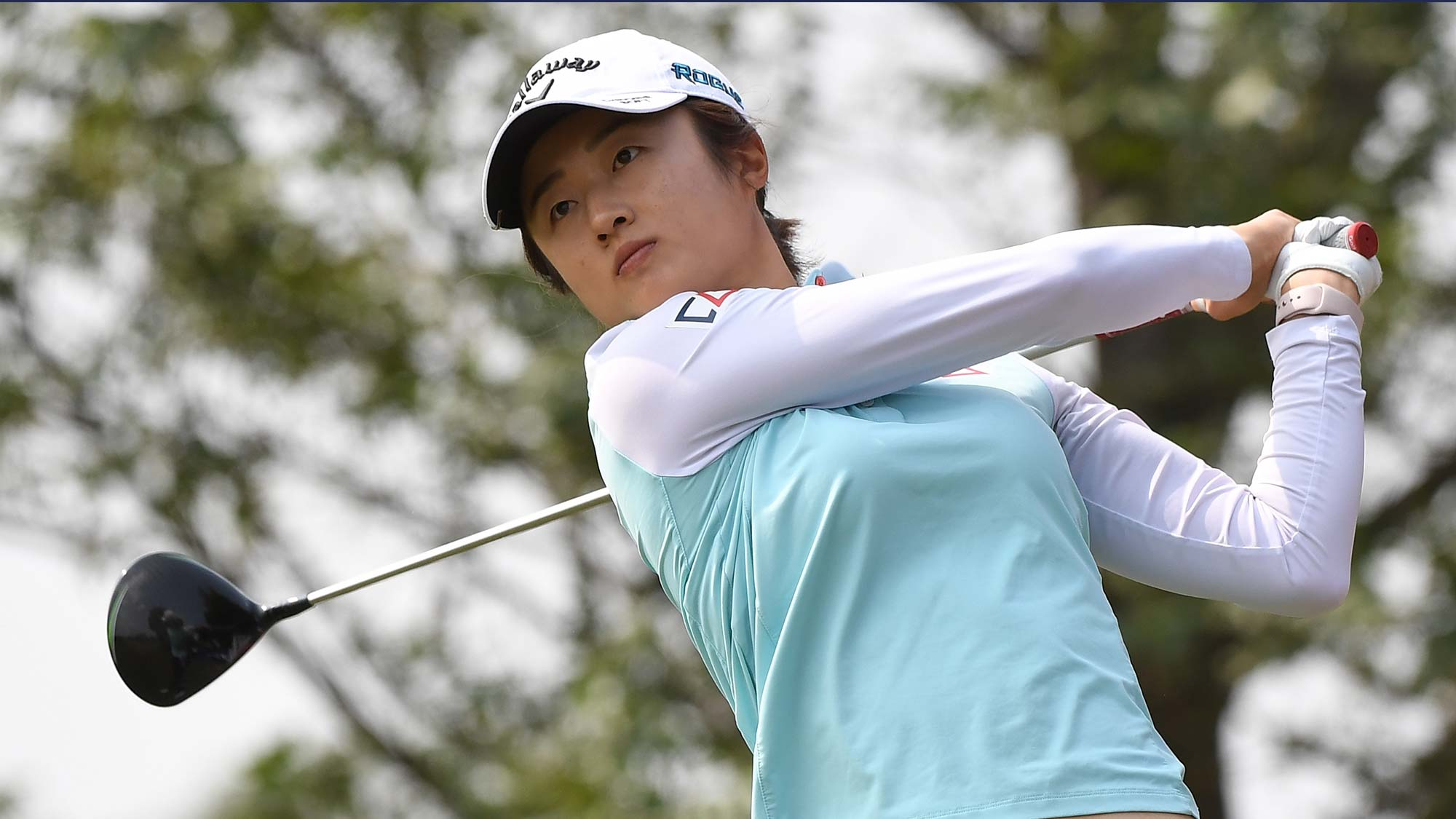 Yu Liu of China plays a shot during the first round of the Buick LPGA Shanghai